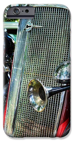 1934 Chevrolet Head Lights iPhone Case by Paul Ward