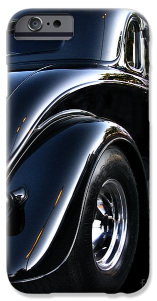 Fat Tire iPhone Cases - 1934 Ford Coupe Rear iPhone Case by Peter Piatt