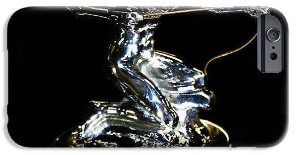 Car Mascot Digital iPhone Cases - 1934 Pierce Arrow Hunter Mascot iPhone Case by Jack Pumphrey