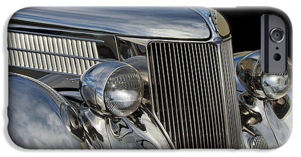 Stainless iPhone Cases - 1936 Ford - Stainless Steel Body iPhone Case by Jill Reger