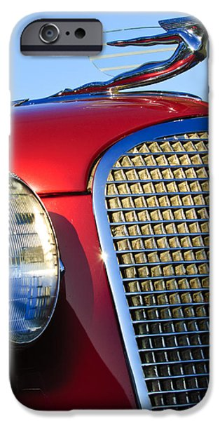 V8 iPhone Cases - 1937 Cadillac V8 Hood Ornament 2 iPhone Case by Jill Reger
