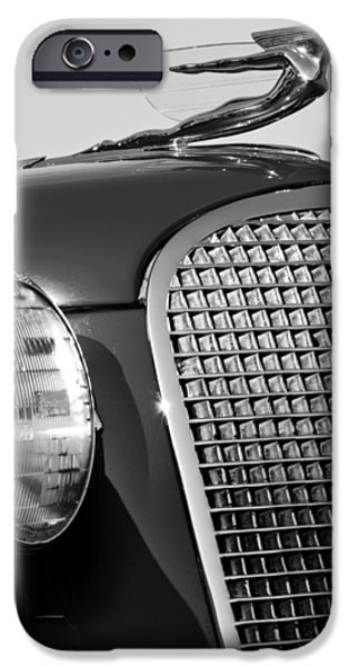 V8 iPhone Cases - 1937 Cadillac V8 Hood Ornament 3 iPhone Case by Jill Reger