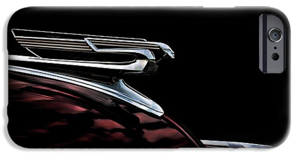 Ornament iPhone Cases - 1940 Chevy Hood Ornament iPhone Case by Douglas Pittman