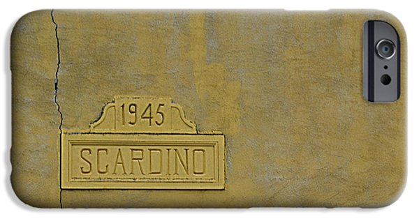 Marker iPhone Cases - 1945 Scardino iPhone Case by Nikki Marie Smith