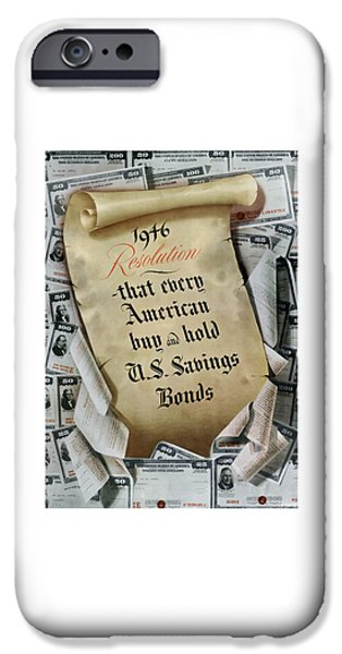 Savings iPhone Cases - 1946 Resolution  iPhone Case by War Is Hell Store