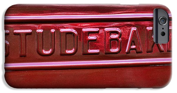 Automotive iPhone Cases - 1947 Studebaker Tail Gate Cherry Red iPhone Case by Paul Ward