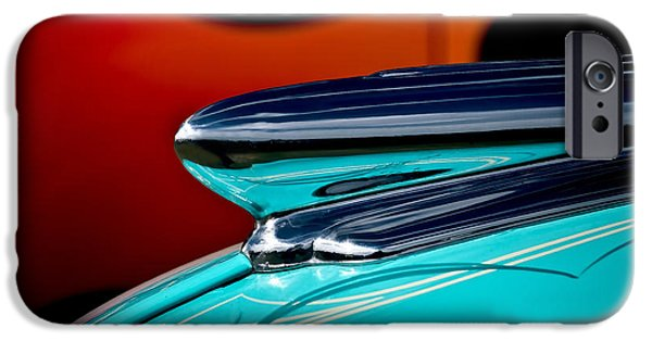 Stripes Digital Art iPhone Cases - 1948 Chevy Hood Ornament iPhone Case by Douglas Pittman