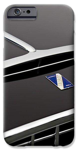 1948 Talbot-Lago T26 Grand Sport Franay Cabtiolet Hood Emblem iPhone Case by Jill Reger
