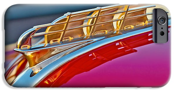 1949 Plymouth iPhone Cases - 1949 Plymouth Hood Ornament iPhone Case by Jill Reger