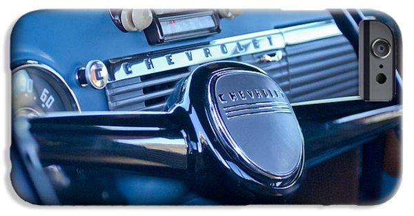 1950 iPhone Cases - 1950 Chevrolet 3100 Pickup Truck Steering Wheel iPhone Case by Jill Reger