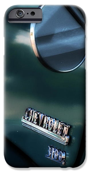1950s Chevy 3100 Pickup Truck iPhone Case by Steven  Digman