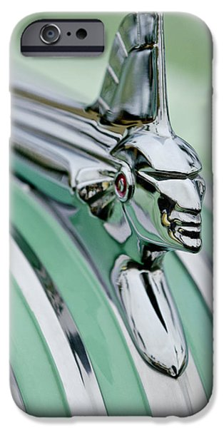 1951 Pontiac Streamliner Hood Ornament 3 iPhone Case by Jill Reger