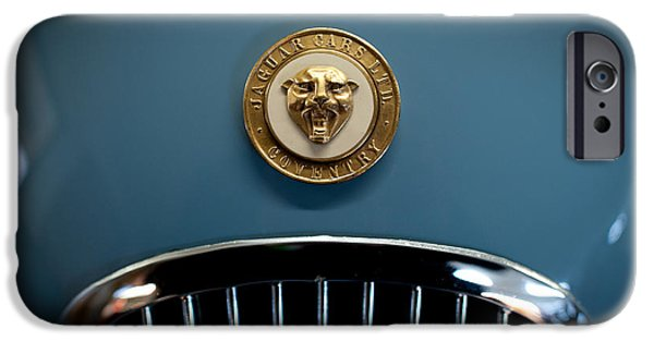 Old Cars iPhone Cases - 1952 Jaguar Hood Ornament iPhone Case by Sebastian Musial