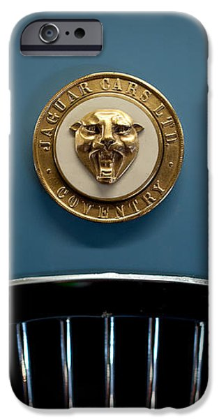 1952 Jaguar Hood Ornament iPhone Case by Sebastian Musial