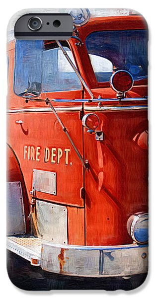 1954 American LaFrance Classic Fire Engine Truck iPhone Case by Kathy Clark