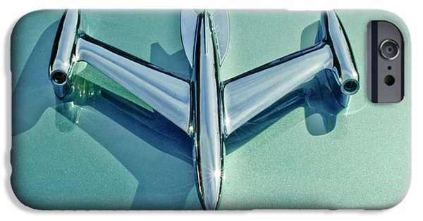 1954 Oldsmobile Super 88 iPhone Cases - 1954 Oldsmobile Super 88 Hood Ornament 2 iPhone Case by Jill Reger