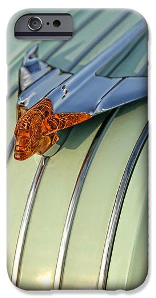 Jet Star Digital Art iPhone Cases - 1954 Pontiac Chieftain Hood Ornament iPhone Case by Gordon Dean II