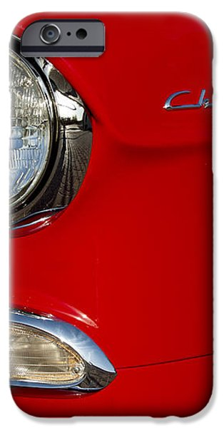1955 Chevrolet 210 Headlight iPhone Case by Jill Reger