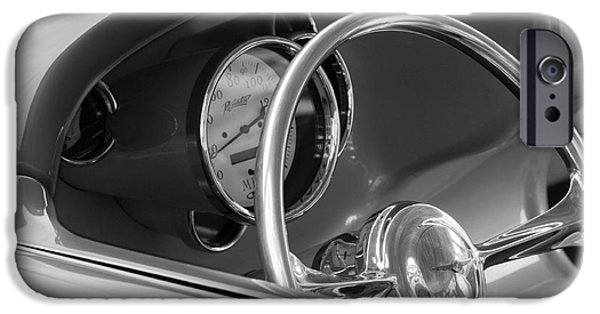 Wagon Photographs iPhone Cases - 1956 Chrysler Hot Rod Steering Wheel iPhone Case by Jill Reger