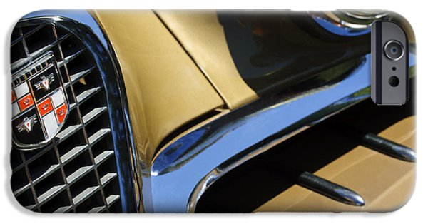 1957 Studebaker Golden Hawk Hardtop Grille Emblem iPhone Case by Jill Reger