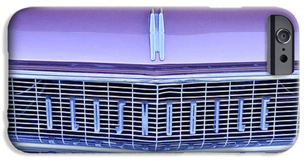 Automotive iPhone Cases - 1959 Oldsmobile Dynamic 88 2 Door Hardtop Grille Emblem iPhone Case by Jill Reger