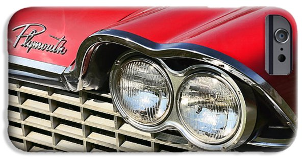 Fury iPhone Cases - 1959 Plymouth Sport Fury  iPhone Case by Gordon Dean II