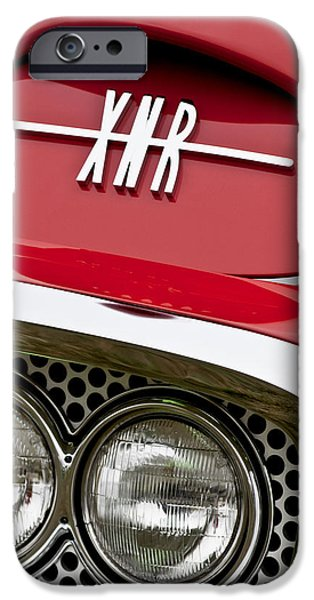 1960 Plymouth XNR Ghia Roadster Grille Emblem iPhone Case by Jill Reger