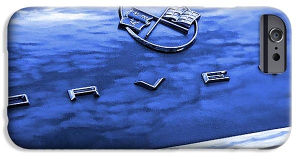 Automotive iPhone Cases - 1962 Chevy Corvette Hood Blue iPhone Case by Gordon Dean II