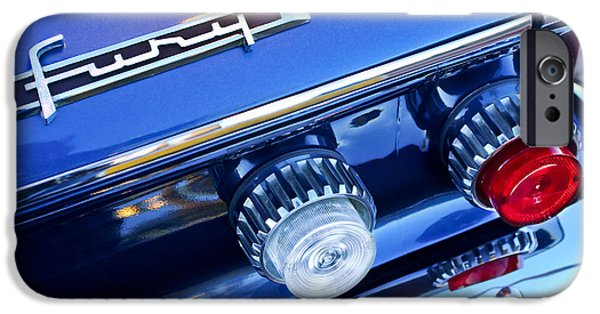 Fury iPhone Cases - 1962 Plymouth Fury Taillights and Emblem iPhone Case by Jill Reger