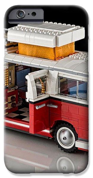1962 VW Lego Bus iPhone Case by Noah Katz