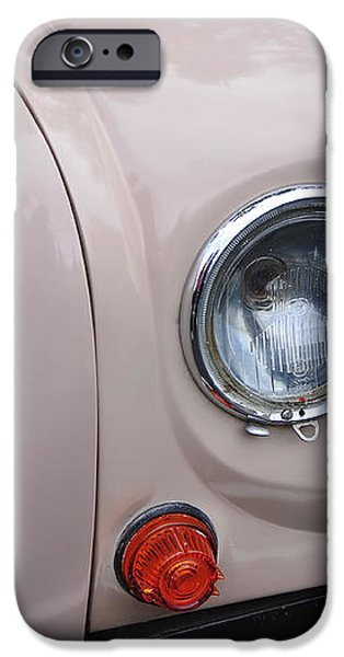 1963 Renault R4 - Headlight and Grill iPhone Case by Kaye Menner