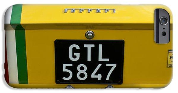 Automotive iPhone Cases - 1964 Ferrari 250 GT Lusso Rear End iPhone Case by Jill Reger