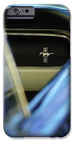 1964 Ford Emblem iPhone Cases - 1964 Ford Mustang Emblem iPhone Case by Jill Reger