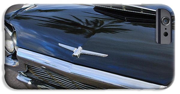 1964 Ford Emblem iPhone Cases - 1964 Ford Thunderbird Front End iPhone Case by Jill Reger