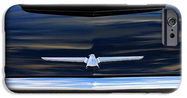 1964 Ford Emblem iPhone Cases - 1964 Ford Thunderbird Hood Emblem iPhone Case by Jill Reger