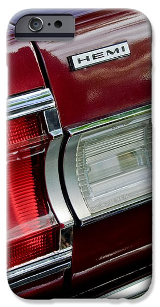 Hemi iPhone Cases - 1967 Plymouth Hemi Taillight  iPhone Case by Jill Reger