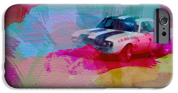 Laguna Seca iPhone Cases - 1968 Chevy Camaro iPhone Case by Naxart Studio