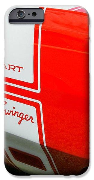 1969 Dodge Dart Swinger 340 iPhone Case by Thomas Schoeller