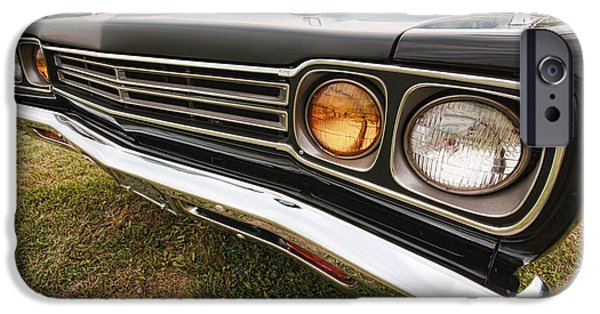 Woodward iPhone Cases - 1969 Plymouth Road Runner 440-6 iPhone Case by Gordon Dean II