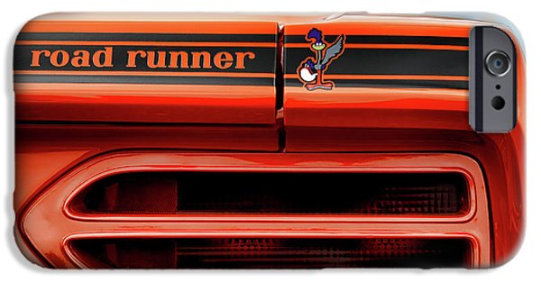 Woodward iPhone Cases - 1970 Plymouth Road Runner - Vitamin C Orange iPhone Case by Gordon Dean II