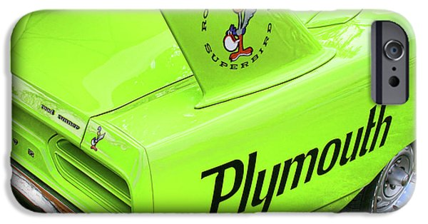 Woodward iPhone Cases - 1970 Plymouth Superbird iPhone Case by Gordon Dean II