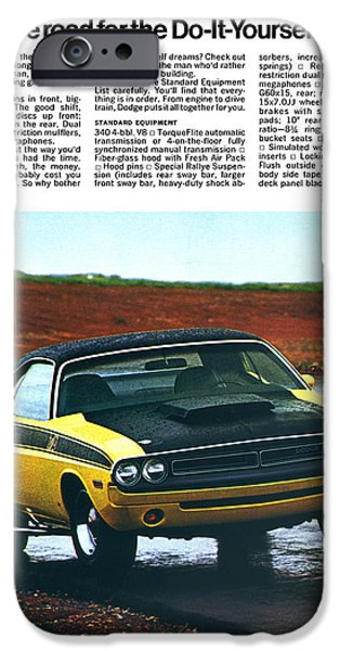 1971 Dodge Challenger T/A iPhone Case by Digital Repro Depot