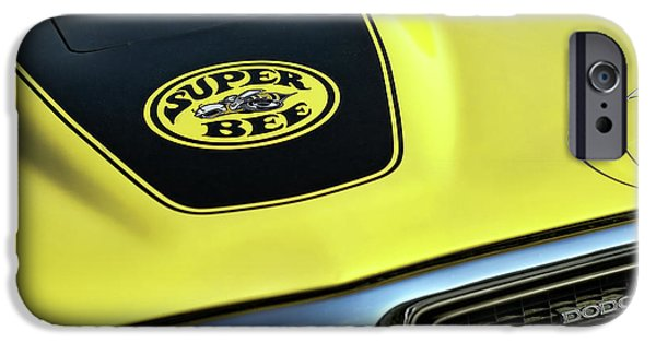 Super Bee iPhone Cases - 1971 Dodge Charger Super Bee iPhone Case by Gordon Dean II