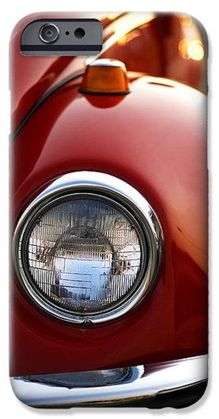 Woodward iPhone Cases - 1973 Volkswagen Beetle iPhone Case by Gordon Dean II