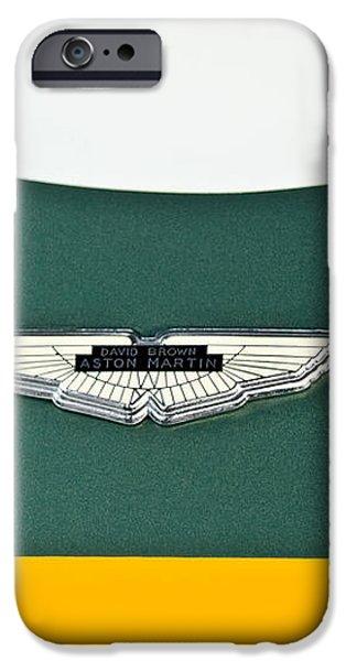 1993 Aston Martin DBR2 Recreation Hood Emblem iPhone Case by Jill Reger