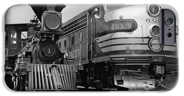 Nineteenth iPhone Cases - 19th & 20th Century Locomotives iPhone Case by Photo Researchers