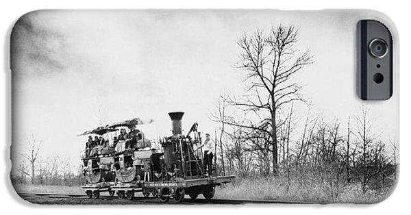 Nineteenth iPhone Cases - 19th Century Atlantic Locomotive iPhone Case by Omikron