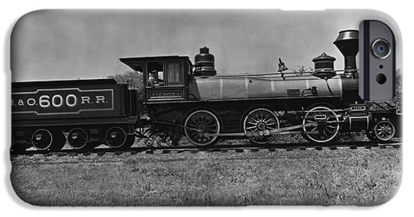 Nineteenth iPhone Cases - 19th Century B&o Locomotive iPhone Case by Omikron