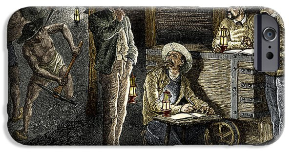 Working Conditions iPhone Cases - 19th-century Coal Mining iPhone Case by Sheila Terry