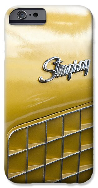 1972 iPhone Cases - 1972 Chevrolet Corvette Stingray Emblem iPhone Case by Jill Reger